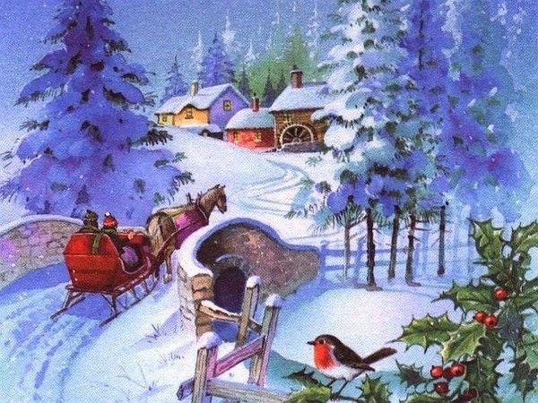 wallpapers noel paysage christmas - photo #2